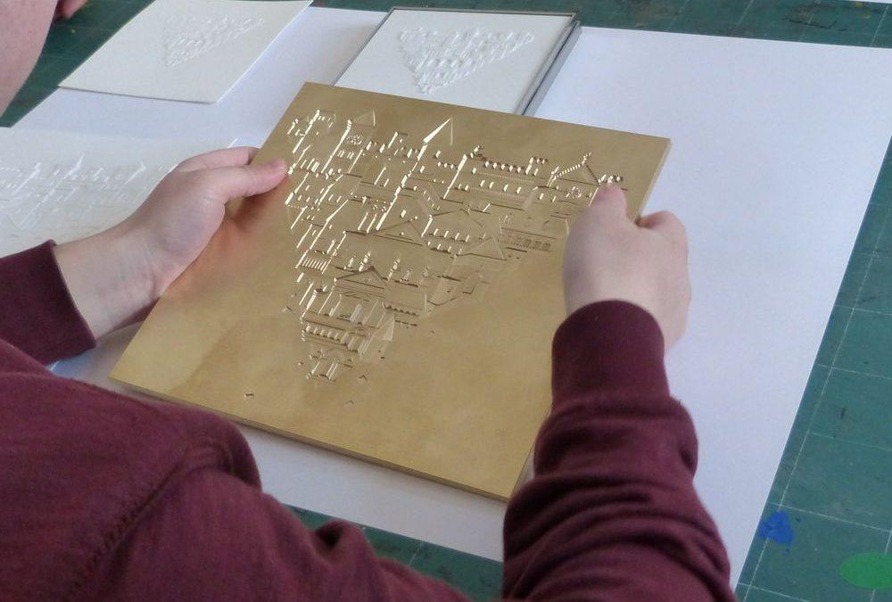 Les élèves de l'INJA explorent la gravure
